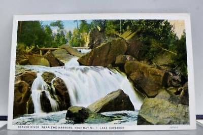 Scenic Two Harbors Beaver River Lake Superior Postcard Old Vintage Card View PC