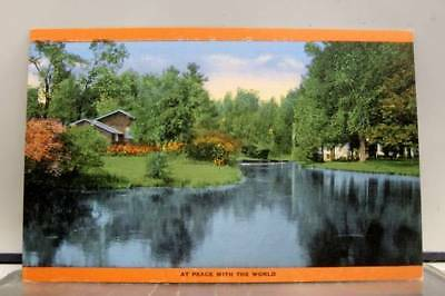 Scenic River Peace World Postcard Old Vintage Card View Standard Souvenir Postal