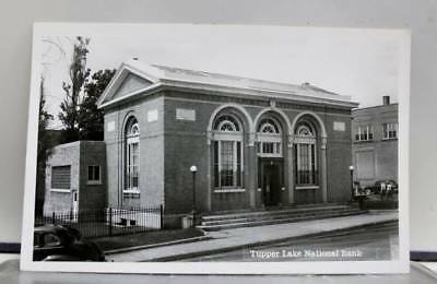 Scenic Tupper Lake National Bank Postcard Old Vintage Card View Standard Post PC