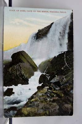 Canada Ontario Niagara Falls Cave of the Winds Rock of Ages Postcard Old Vintage