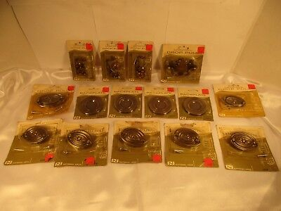Lot of 15 Vintage NOS Antique Brass Colored Furniture Cabinet Hardware