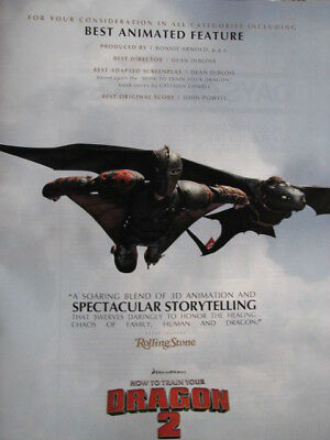 How to Train Your Dragon 2  Flying in the Sky  OSCAR AD Rare