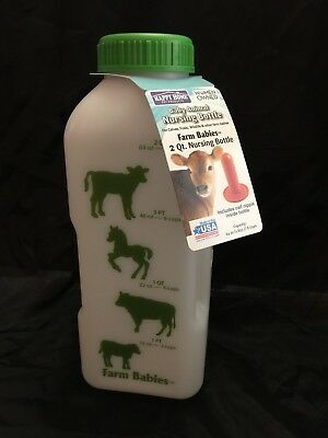 Happy Home Baby Animal Nursing Bottle Farm Babies 2 Quart Calf Nipple Included