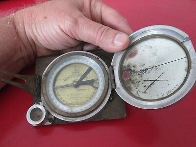 Antique Signed  - Survey  COMPASS TRANSIT   May be Military ??  - #10