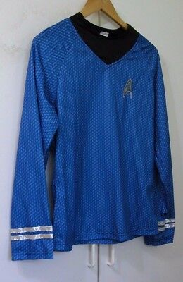 NEW Offiical Star Trek Long Slv Blue Officer's Uniform Shirt Top S Small