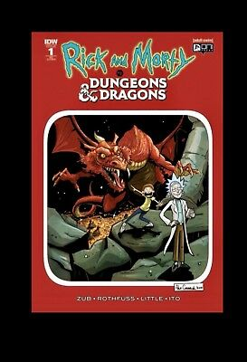 Rick And Morty Vs Dungeons & Dragons #1 Variant Chromium Cover Pre Sale 8/22