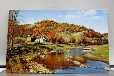 Scenic Autumn Creek Postcard Old Vintage Card View Standard Souvenir Postal Post