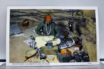 Scenic Navajo Indian Silversmith Postcard Old Vintage Card View Standard Post PC