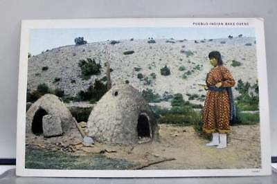 Scenic Pueblo Indian Bake Ovens Postcard Old Vintage Card View Standard Souvenir
