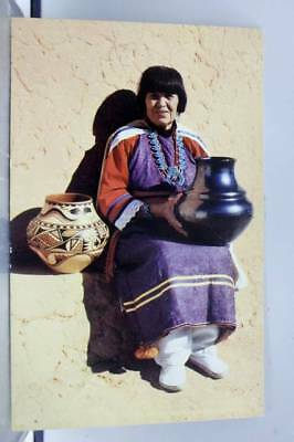 New Mexico NM Maria Pottery Maker Postcard Old Vintage Card View Standard Post
