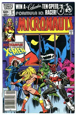 Micronauts #37 NM 9.4 white pages  X-Men x-over  Marvel  1982  No Reserve