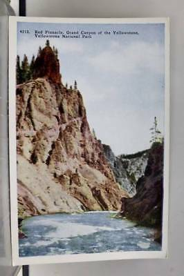 Yellowstone Park Red Pinnacle Grand Canyon Postcard Old Vintage Card View Post