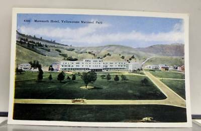 Yellowstone Park Mammoth Hotel Postcard Old Vintage Card View Standard Souvenir