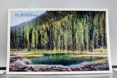 Yellowstone Park Emerald Pool Postcard Old Vintage Card View Standard Souvenir