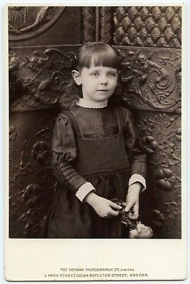 Cute Little Girl By Notman Fashion Fantastic Prop Panels Cabinet Card Photo
