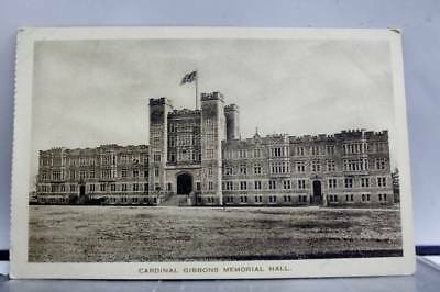 Scenic Cardinal Gibbons Memorial Hall Postcard Old Vintage Card View Standard PC