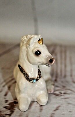 Vtg 1990 Windstone Editions N Hollywood Pena Baby Unicorn Retired White Figurine