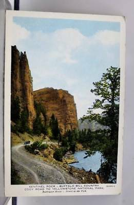 Canada Sentinel Rock Buffalo Bill Country Postcard Old Vintage Card View Post PC