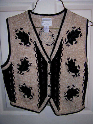 Christoher & Banks, Womens Embroidered Sweater Vest - Size Small