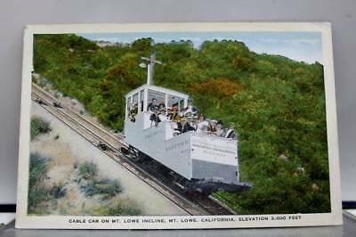 California CA Cable Car Mt Lowe Incline Postcard Old Vintage Card View Standard