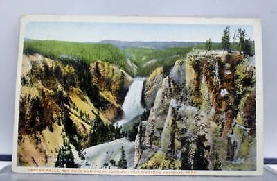 Yellowstone Park Canyon Falls Red Rocks Postcard Old Vintage Card View Standard