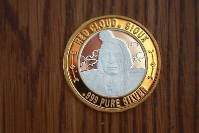 Red Cloud .999 Pure Silver Strike