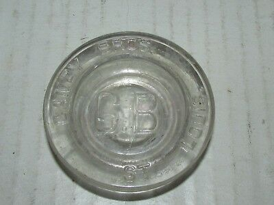 """Candy Bros. CB St. Louis candy apothecary jar lid 2 1/2"""""""