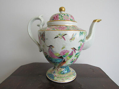 Superb and very rare old Chinese famille rose teapot