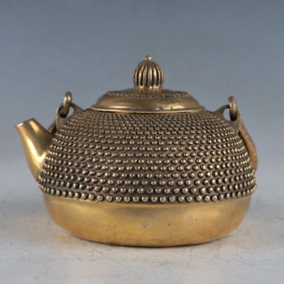 Chinese Exquisite Brass Teapots Made By The Royal Daqing