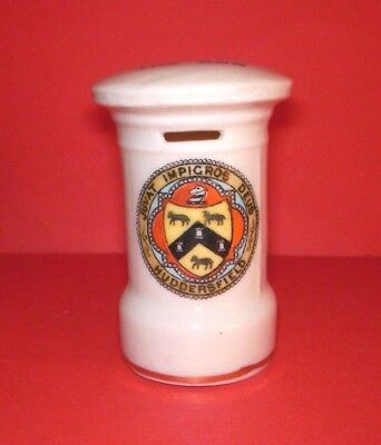 Crested China  Post Box  Huddersfield Crest
