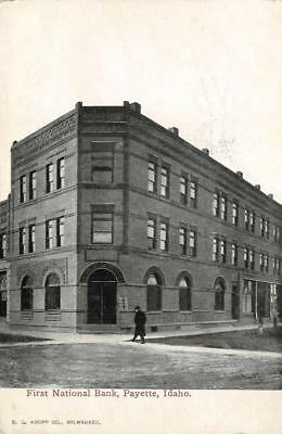 First National Bank, Payette, Idaho 1911 Vintage Postcard