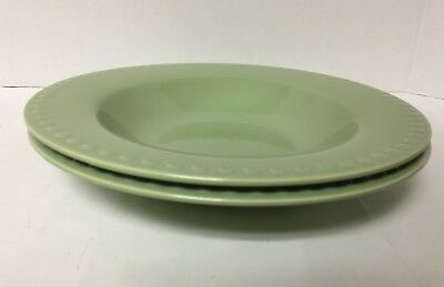 Southern Living at Home Hospitality Collection SAGE PASTA BOWLS S/2 EUC