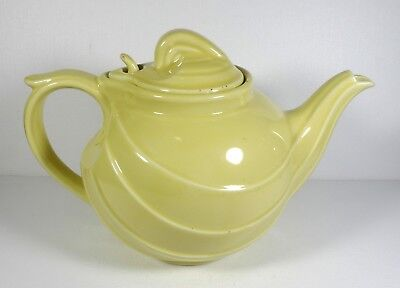 Vintage HALL Yellow Art Deco Tea Pot Made In USA