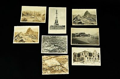 Lot of 8 - Historical Postcards of Peru Real Photo Postcard RPPC 1910s