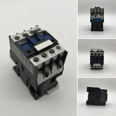 AC Contactor Coil 3-Phase 1NO 50/60Hz Motor Starter Relay LC1 D1810 Power Switch
