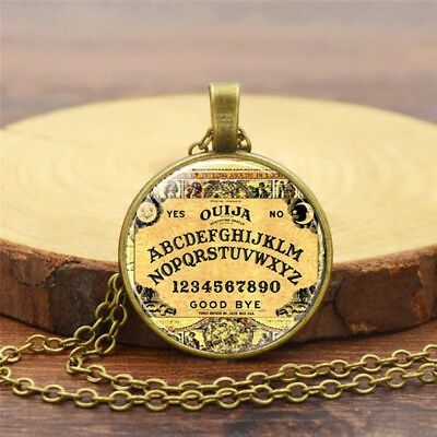 Vintage Antique Halloween Gothic Ouija Board Pendant Necklace Jewelry