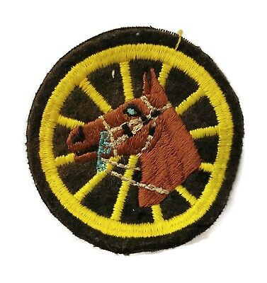 Vintage 40's Detroit Mounted Police Horse Patch FELT Michigan