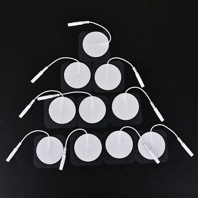 10pcs tens therapy round electrode pads electrode patch for therapy machine  V8D
