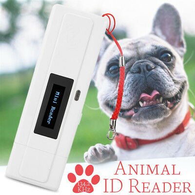 AU 134.2Khz ISO FDX-B Animal Chip Reader Microchip Handheld Pet Scanner USB Port