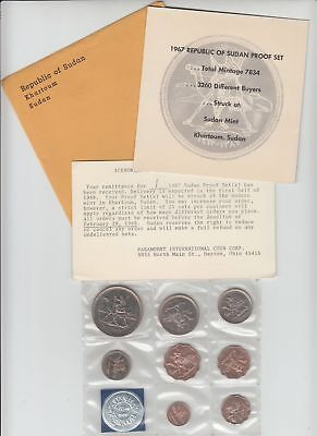 Rare 1967 South SUDAN 8 Coin First Official Proof Set