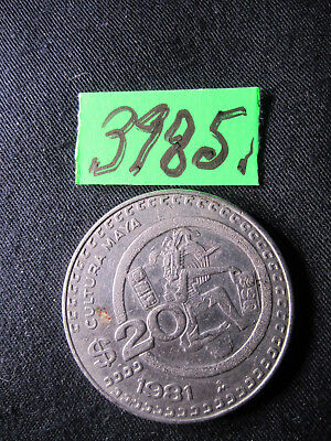 1 x 20 peso 1981 coin from   Mexico     8  gms      Mar3985/1