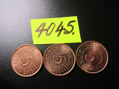 3 x  coins from   Mauritius    16   gms      Mar4045/1