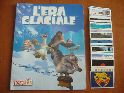 L'ERA GLACIALE  NEW LINKS ALBUM VUOTO + SERIE COMPLETA FIGURINE newlinks sticker