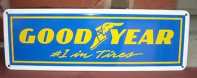 GOODYEAR TIRES #1 Tires SIGN Tire Mechanic Garage Shop Advertising Free Shipping