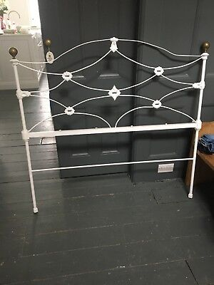 Cast Iron and Brass Bed Head - to fit 4ft 6inch double bed good condition