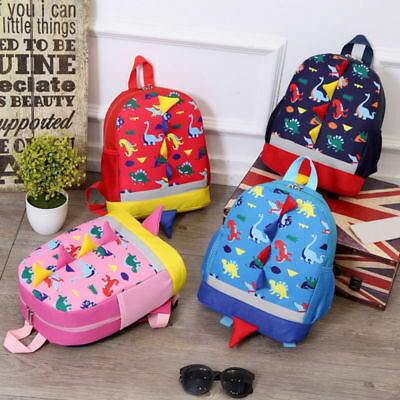 Baby Boys Girls Kids Lovely Toddler Dinosaur Pattern Animals Backpack School Bag