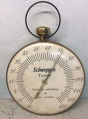 A Old Vintage Schweppes Thermometer  Sign