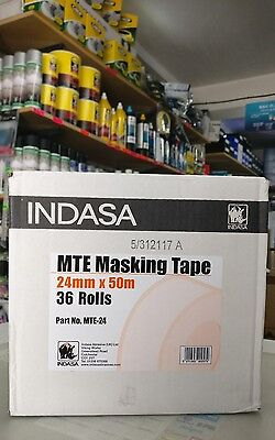 INDASA Low Bake Masking Tape 24mm x 50m 36 rolls