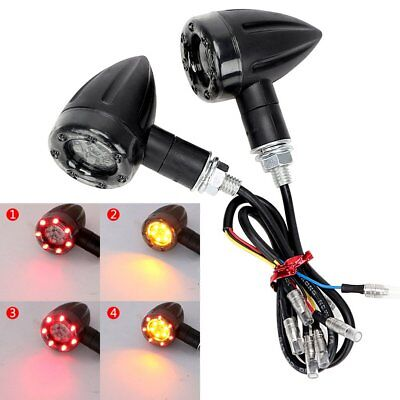 2Pcs Motorcycle Turn Signal Light Brake Stop Lights 12V 13 LED Indicator Amber A