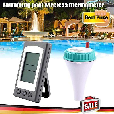 Wireless LCD Schwimmbad Thermometer Poolthermometer Funk Teichthermometer DE